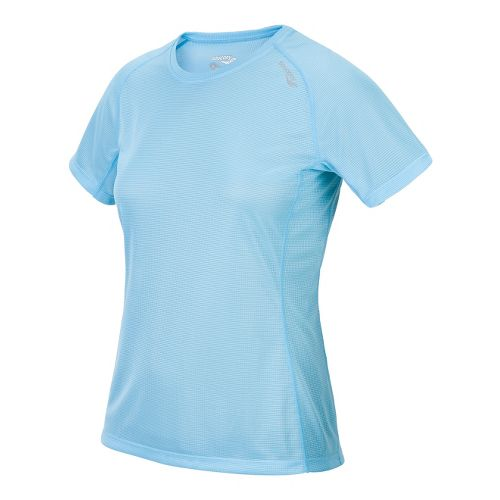 Womens Saucony Hydralite Short Sleeve Technical Tops - Isis Blue XS