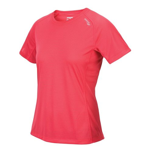 Womens Saucony Hydralite Short Sleeve Technical Tops - Karma L