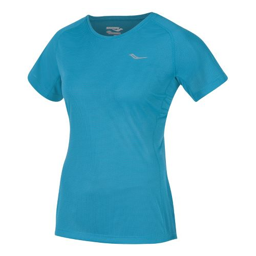 Womens Saucony Hydralite Short Sleeve Technical Tops - Oceania S