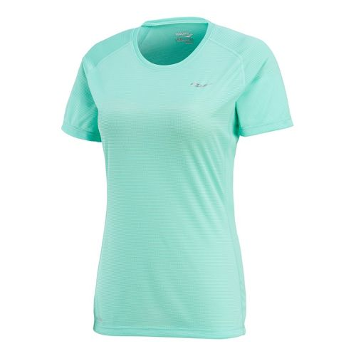 Womens Saucony Hydralite Short Sleeve Technical Tops - Sea Green S