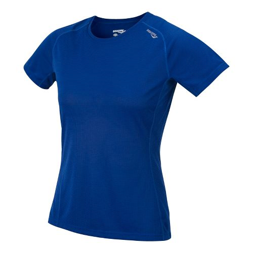 Womens Saucony Hydralite Short Sleeve Technical Tops - Stellar L
