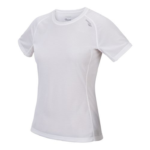 Womens Saucony Hydralite Short Sleeve Technical Tops - White XL