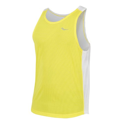Mens Saucony Hydralite Singlet Tanks Technical Tops - Blazing Yellow XL