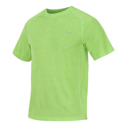 Mens Saucony Hydralite Short Sleeve Short Sleeve Technical Tops - Acid Green M