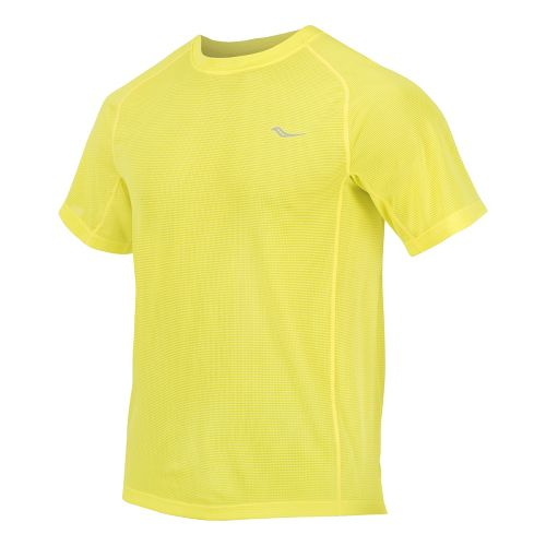 Mens Saucony Hydralite Short Sleeve Short Sleeve Technical Tops - Blazing Yellow S