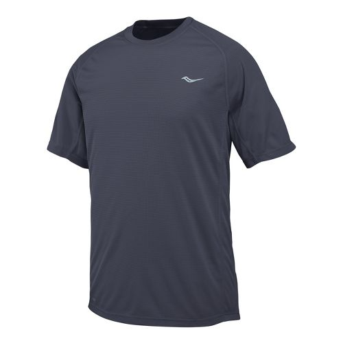 Mens Saucony Hydralite Short Sleeve Short Sleeve Technical Tops - Carbon L