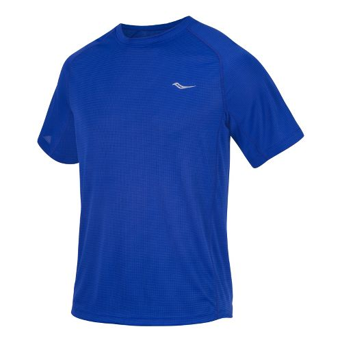 Mens Saucony Hydralite Short Sleeve Short Sleeve Technical Tops - Cobalt S