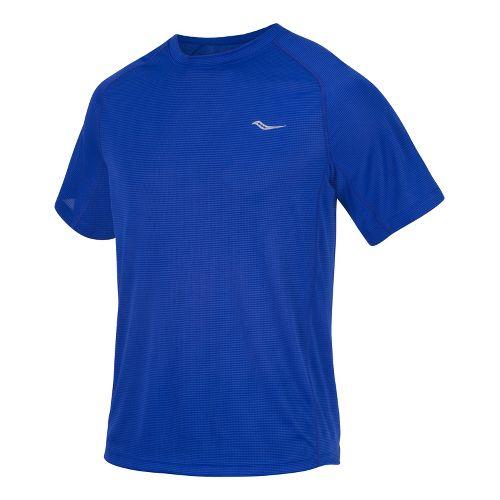 Mens Saucony Hydralite Short Sleeve Short Sleeve Technical Tops - Cobalt XL