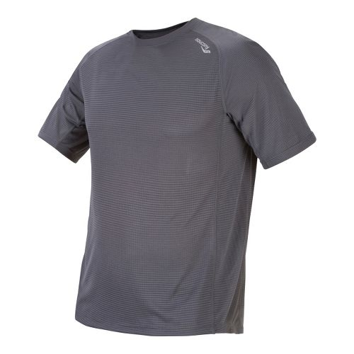 Mens Saucony Hydralite Short Sleeve Short Sleeve Technical Tops - Phantom L