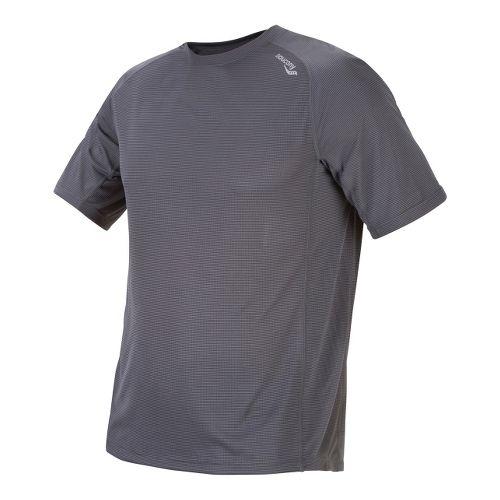 Mens Saucony Hydralite Short Sleeve Short Sleeve Technical Tops - Phantom XXL