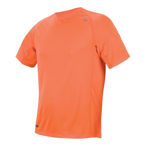 Mens Saucony Hydralite Short Sleeve Short Sleeve Technical Tops - Vizipro Orange S