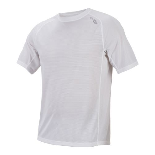 Mens Saucony Hydralite Short Sleeve Short Sleeve Technical Tops - White XL