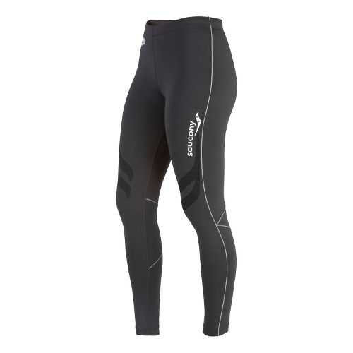 Womens Saucony Amp Pro Fitted Tights - Black XS