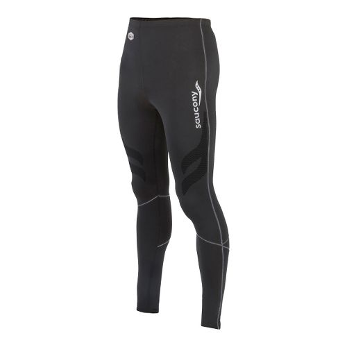 Mens Saucony Amp Pro Fitted Tights - Black XL
