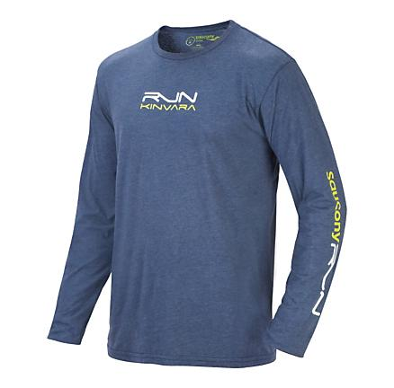 Mens Saucony Kinvara Graphic Long Sleeve No Zip Technical Tops