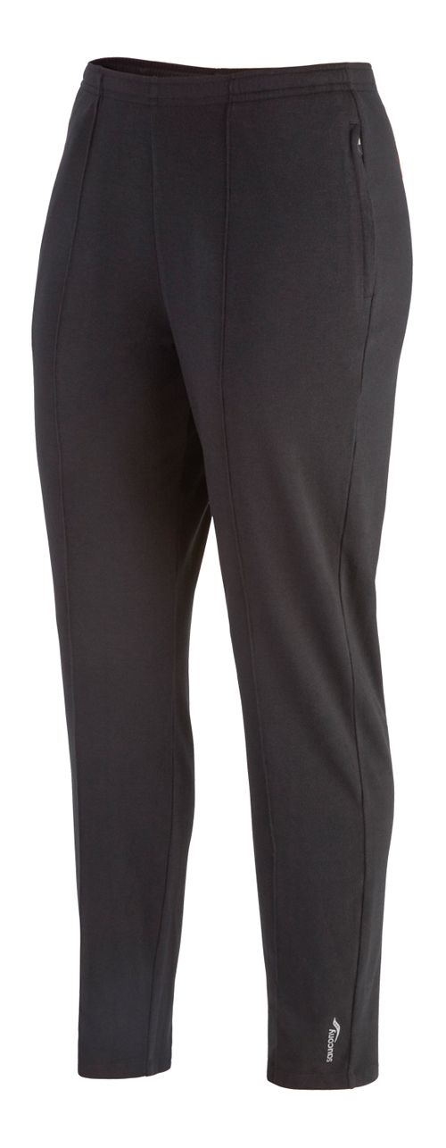 Womens Saucony Boston Full Length Pants - Black L