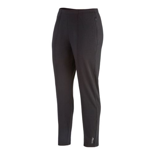 Womens Saucony Boston Full Length Pants - Black XS