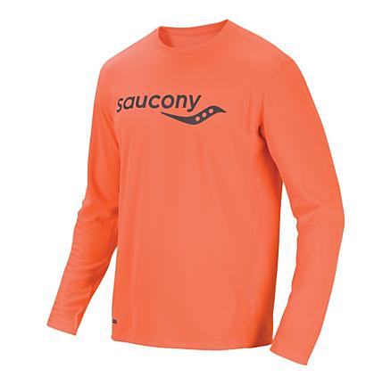 Mens Saucony Saucony Long Sleeve No Zip Technical Tops