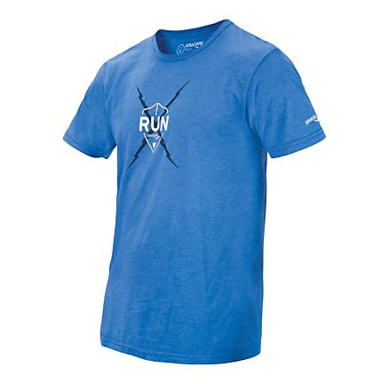 Mens Saucony Run Elements Tee Short Sleeve Technical Tops
