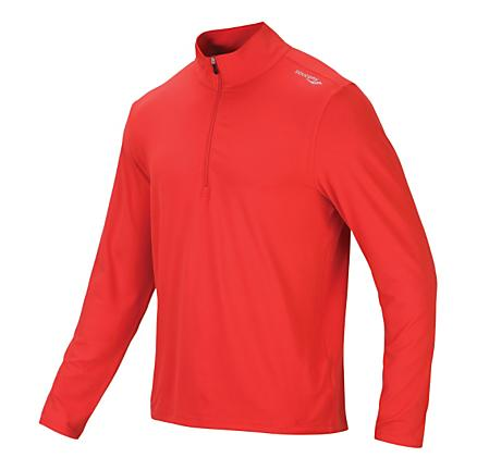 Mens Saucony Primo 1/4 Zip Long Sleeve Technical Tops