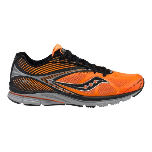 Mens Saucony Kinvara 4 GTX Running Shoe - Black/Vizipro Orange 7.5