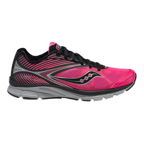 Womens Saucony Kinvara 4 GTX Running Shoe - Black/Vizipro Pink 7