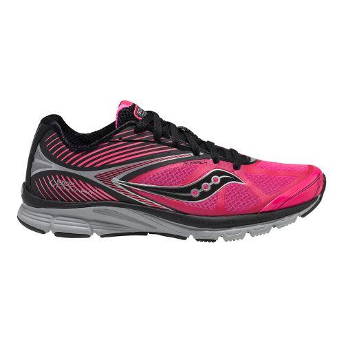 Womens Saucony Kinvara 4 GTX Running Shoe - Black/Vizipro Pink 7.5