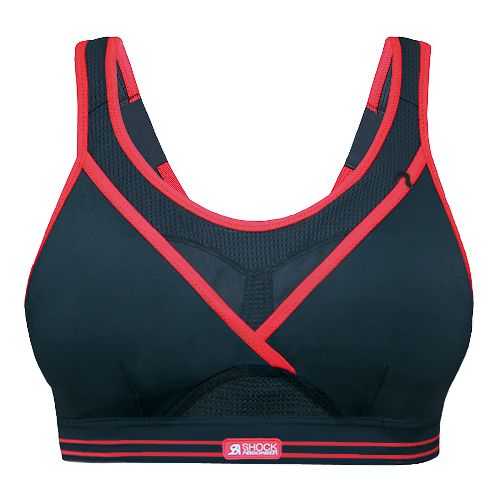 Womens Shock Absorber Ultimate Gym Sports Bra - Black/Pop 32A