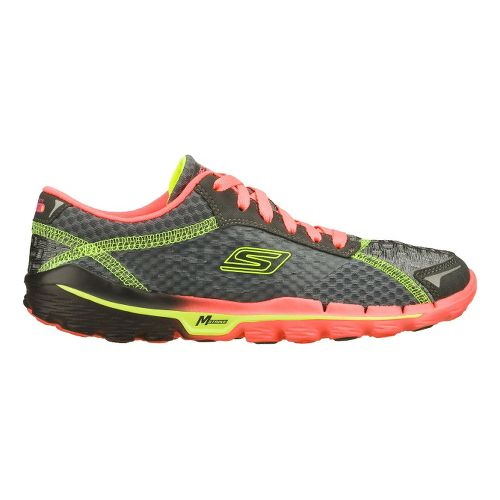 Womens Skechers GOrun 2 Running Shoe - Charcoal/Hot Pink 9