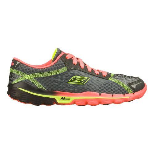 Womens Skechers GOrun 2 Running Shoe - Charcoal/Hot Pink 9.5