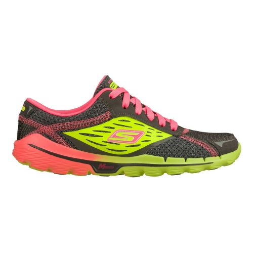 Womens Skechers GOrun 2 Running Shoe - Charcoal/Lime 7.5