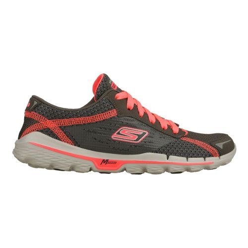 Womens Skechers GOrun 2 Running Shoe - Charcoal/Pink 6.5
