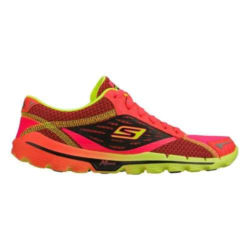 Womens Skechers GOrun 2 Running Shoe - Pink/Lime 9