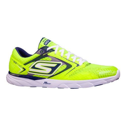 Womens Skechers GO Speed Runner Racing Shoe - Neon 7.5