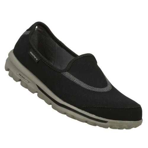 Womens Skechers GOWalk Walking Shoe - Black/Grey 6.5