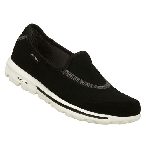 Womens Skechers GOWalk Walking Shoe - Black/White 8