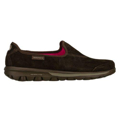 Womens Skechers GOwalk - Autumn Walking Shoe - Chocolate 8