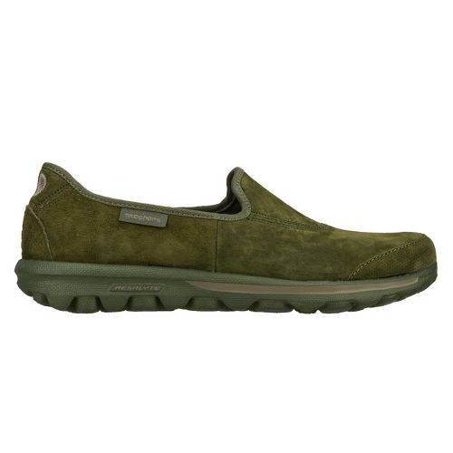 Womens Skechers GOwalk - Autumn Walking Shoe - Olive 5