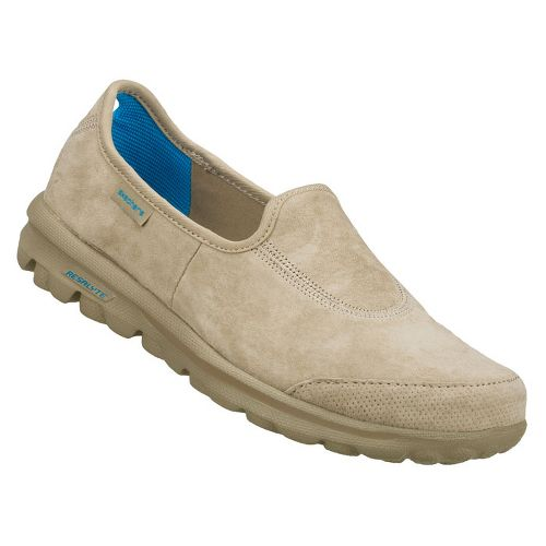 Womens Skechers GOwalk - Autumn Walking Shoe - Stone 7