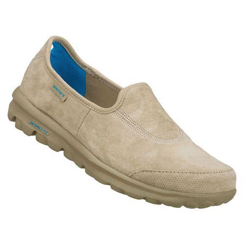 Womens Skechers GOwalk - Autumn Walking Shoe - Stone 8