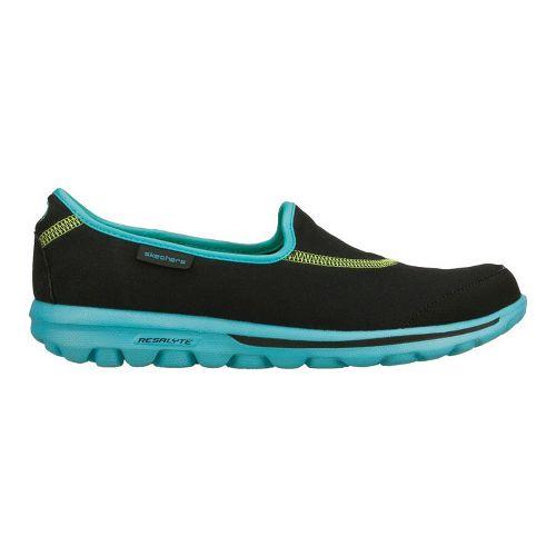 Womens Skechers GO Walk Walking Shoe - Black/Blue 5