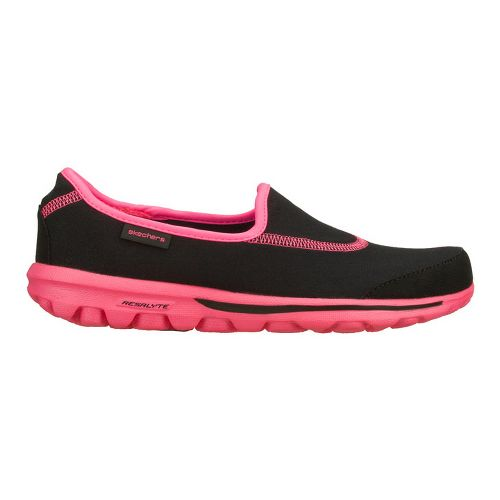 Womens Skechers GO Walk Walking Shoe - Black/Hot Pink 5