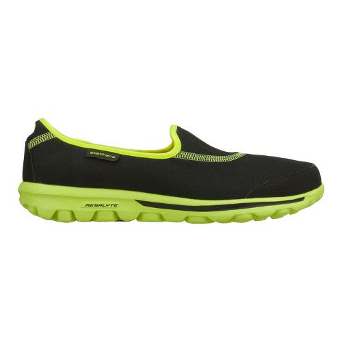 Womens Skechers GO Walk Walking Shoe - Black/Lime 11