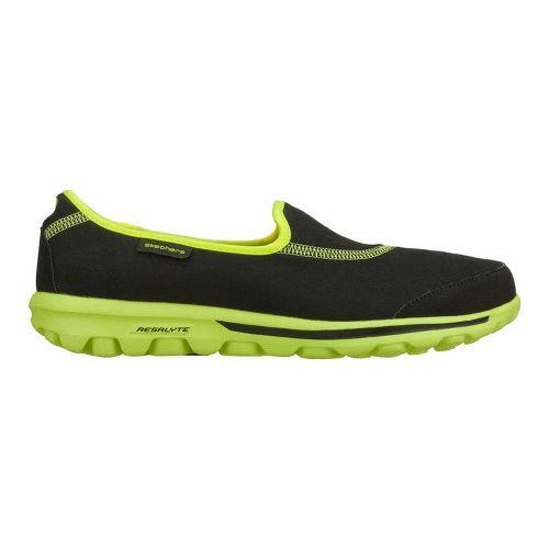Womens Skechers GO Walk Walking Shoe - Black/Lime 7