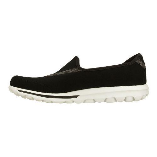 Womens Skechers GO Walk Walking Shoe - Black/White 7