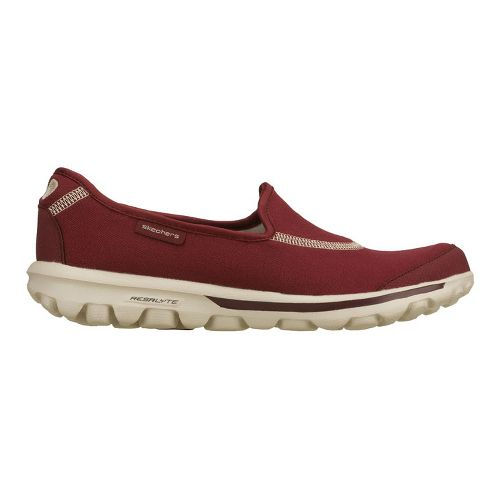 Womens Skechers GO Walk Walking Shoe - Burgundy 6.5