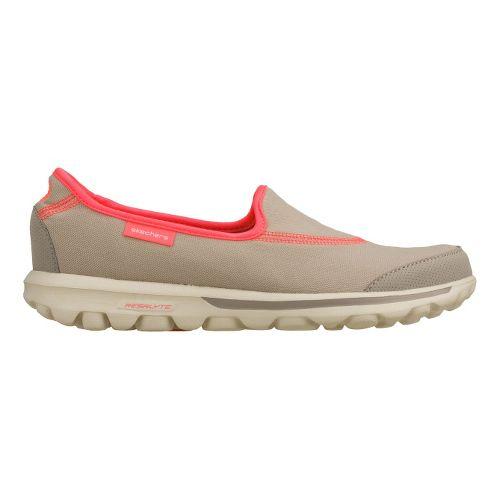Womens Skechers GO Walk Walking Shoe - Grey/Pink 8.5