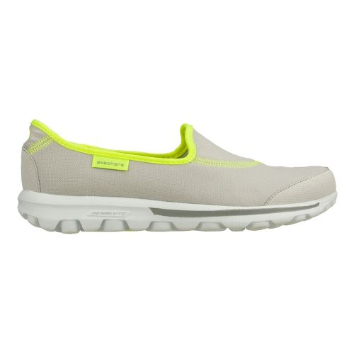 Womens Skechers GO Walk Walking Shoe - Light Grey/Lime 11