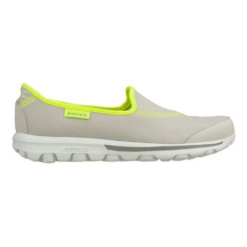 Womens Skechers GO Walk Walking Shoe - Light Grey/Lime 8