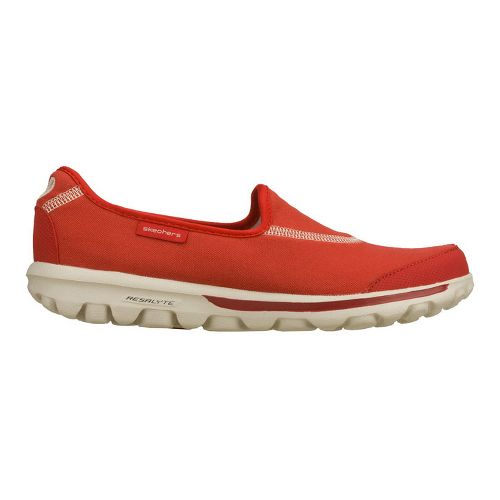 Womens Skechers GO Walk Walking Shoe - Red 7